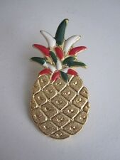 12 Pineapple Lapel pins hand painted with Italian flag colors in gold finish