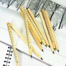 Handmade wooden ruler design manual ballpoint pen DIY multifunction ballpen UK
