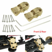 2X Brass Front Rear Axle Diff Housing Covers For Axial SCX24 1/24 RC Crawler