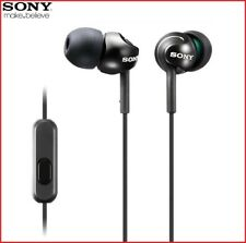 SONY MDR-EX110AP BLACK In-Ear Headphones with in Line Microphone For Smartphones
