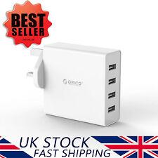ORICO 4-port Universal USB Wall Charger UK Plug AC 12v Travel Power Adapter 2.4a