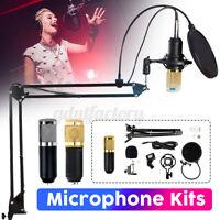 BM800 Condenser Microphone Professional Mic Studio Vocal Kits w/ Shock Mount !