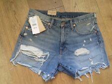 "W31"" Ralph Lauren Mujer Rasgadas Vintage Denim Jeans Pantalones Cortos. BNWT"