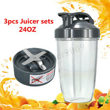 Extractor Blade+24oz Mixing Cup+Flip Lid Replacement For NutriBullet 600W