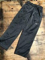 "NIKE Dri-Fit Black Youth Boy's YOUTH M medium sweatpants 24""L Fleece Lined EUC"