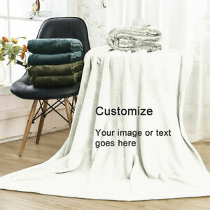 Personalized Photo Blanket Picture Custom Flannel Fleece Throw Family Gifts