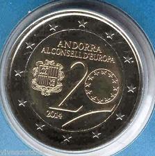 Andorra 2 Euros 2014 20 Aniversario Con. EU  @ 1ª emisión @