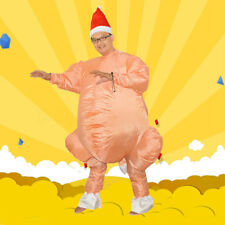 Funny Inflatable Running Turkey Halloween Thanksgiving Party Costume Adult + Hat