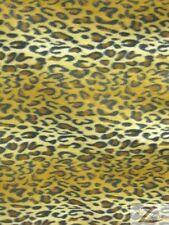 "LEOPARD PRINT POLAR FLEECE FABRIC - Gold Snow - 4.99/YARD 36""X60"" SOLD BTY 515"