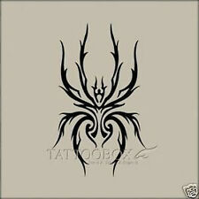 Reusable airbrush stencils Temporary Tattoo Stencils   - Spider (Large size)