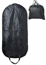 "46"" Black Leather Garment Hanging Bag Carry On Luggage Mens Womens Dress Suits"