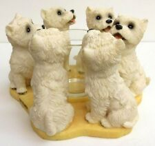 WEST HIGHLAND TERRIER CANDLE RING,  CONTINENTAL. CREATIONS, ITEM P693