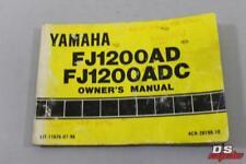 OEM YAMAHA FJ1200AD FJ1200ADC OWNERS MANUAL PART# LIT-11626-07-98