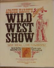 Reproduction Print of 1883 Apache Harry's Original Wild West Show