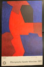 Original Vintage Poster Olympic Art Munich 1972 Artist: SERGE POLIAKOFF