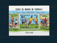 Mali Bloc   coupe du monde de football  surchargé 1990   num:   27  **