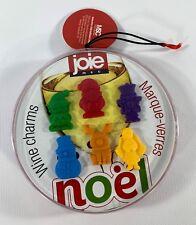 Joie Noel 6 Piece Wine Charms Christmas Santa Reindeer Snowman Elf Angel Soldier