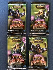 4x Sealed Betrayal Of The Guardian Pack  Warcraft WoW TCG Ghostly Charger Loot?