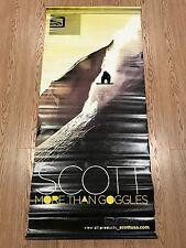 "Scott Goggles Snowboard Ski Vinyl Banner Poster Reversible 48"" x 21"" X Games"