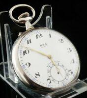 Vintage Silver B.W.C Stem Wind Pocket Watch