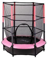 "Westwood Junior Trampoline With Enclosure Safety Net Kids Child Pink 4.5ft 55"""
