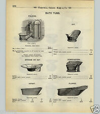 1904 PAPER AD Fold Out Wall Mounted Bath Tub Water Heater