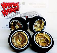 Hoppin Hydros 1/24 Scale GOLD MCs Plastic Model Lowrider Rims WW Tire MC Wheels!