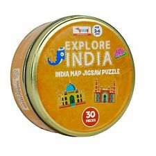 Explore India Map 30 Pcs Brightly coloured Jigsaw Puzzle For 2-6 Years Kids