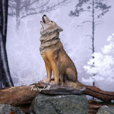 More details for wolf ~ howling winter mountain wolf figurine ~ ornament~ statue 20cm