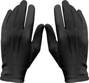 Black Military Cotton Dress Parade Gloves