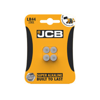 4x JCB Batteries LR44 A76 1.5v Alkaline Coin Battery Watches Calculator Toys