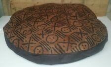 """Ashford Court Leather Patch 36"""" round Dog Bed Cover Only Smile Faces Print"""
