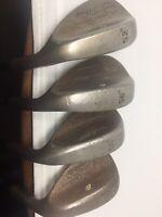 Rare Titleist Vokey Mild Raw Steel 52 56 58 60 Sand Lob Gap Golf wedge set