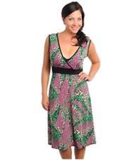 NEW..Stylish Plus Size Empire Line Dress Gorgeous Colours & Print.Sz16/1XL