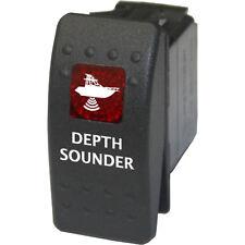 Rocker switch 741 red 12V DEPTH SOUNDER water marine boat fishing