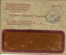 Switzerland TELEGRAM ENVELOPE & CANCEL Geneva 13/DEC/20