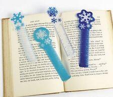 Paquete De 12-Copo de Nieve de Plástico Regla Marcador-Navidad relleno congelado