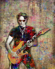 Steve Vai 8x10in Poster, Steve Vai Guitarist Pop Tribute Print Free Shipping