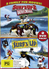 SURF'S UP 1+2: Wave Mania DVD 2-MOVIES 2017 BRAND NEW RELEASE FAMILY 2-DISCS R4