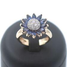 Saphir Ring 585 Gold 14 Karat Gelbgold  Zirkonia Massiv Wert 1399,-