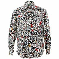 Men's Loud Shirt Retro Psychedelic Funky Party TAILORED FIT Animal Print