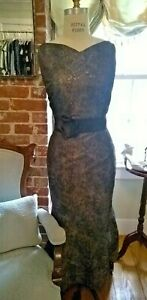 Prom/Mother of the Bride/Bridesmaid/Evening Gown Size 12 Black/Charcoal Gray