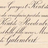 Marie T'Kint De Roodenbeke La Barre Veuillé Niort 1887 De Bodin De Galembert