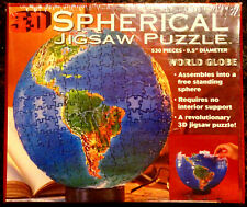 1995 Buffalo Games World Globe 3D Spherical Jigsaw Puzzle 530 Pieces