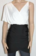 Unbranded Designer White Black Tunic Day Dress Size S BNWT #si16