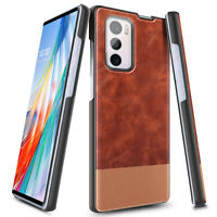 For LG Wing 5G Case, Nagebee Shockproof Brown Leather Phone Cover