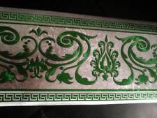 wunderschöne Barock Bordüre GRÜN ,VERSAC  5m lang 17,7 cm breit