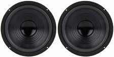"""NEW (2) 8"""" Subwoofer Speaker Pair.Free Air Infinite Baffle Rear Deck Woofers.4om"""