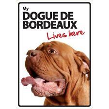 Dogue de Bordeaux Lives Here A5 Plastic Sign