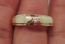STUNNING 14K YG ROUND DIAMOND ENGAGEMENT RING SIZE 11.25  .10 CT A1591-2  5.54gr